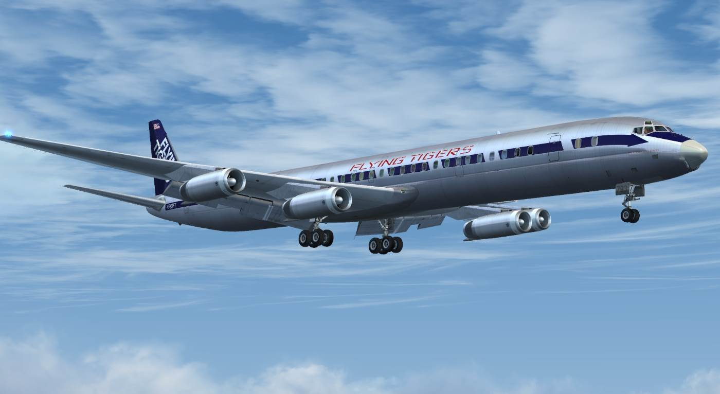 DC-8 Jetliner Series 50-70 Livery Pack 2 - PC Aviator
