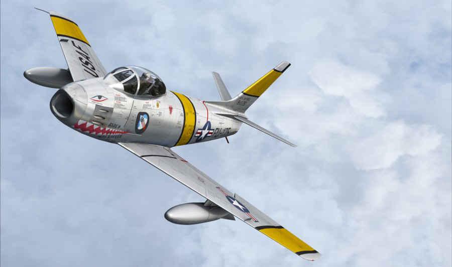 CL-13A Sabre (F-86E), N86FS (USAF/FU-222)   Sabre jet