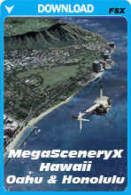 MegaSceneryX: Hawaii - Honolulu & The Island Of Oahu (FSX)