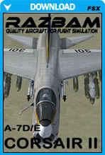 RAZBAM A-7E and A-7D Corsair II for FSX