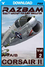 RAZBAM A-7E and A-7D Corsair II for FSX - Volume II