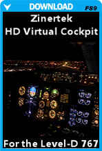 HD Virtual Cockpit for the Level-D 767