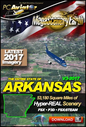 MegaSceneryEarth 3 - Arkansas (2017)