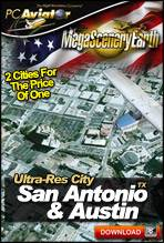 MegaSceneryEarth 2.0 - Ultra-Res Cities - San Antonio & Austin, TX