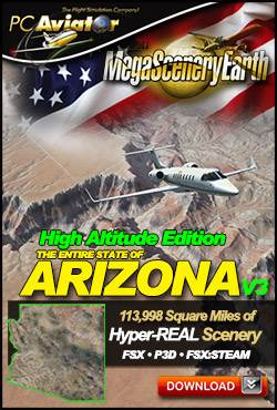 MegaSceneryEarth V3 - Arizona High Altitude Edition