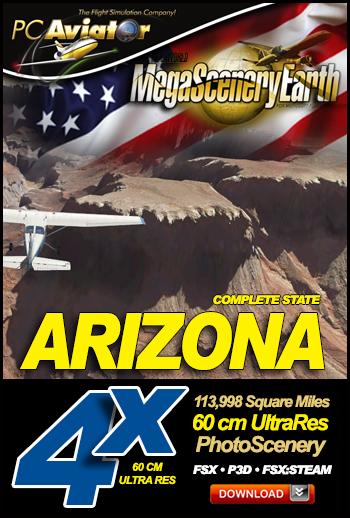 MegaSceneryEarth 4X Arizona 60 cm Ultra Res