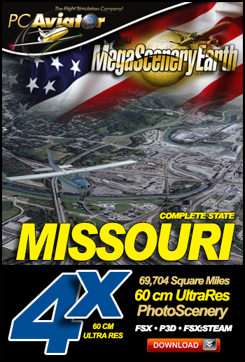 MegaSceneryEarth 4X Missouri 60 cm Ultra Res