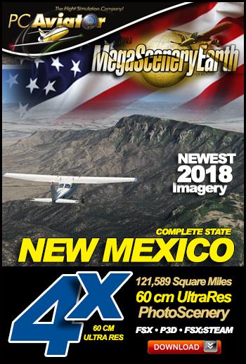 MegaSceneryEarth 4X New Mexico 60 cm Ultra Res