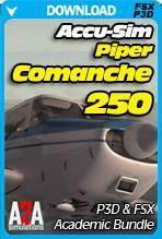 Accu-Sim Comanche 250 P3D & FSX Academic Bundle