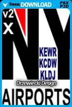 NY Airports v2 X Volume 1: KEWR, KLDJ, KCDW