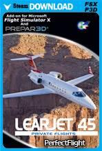 Private Flights - Learjet 45 (FSX/P3D)