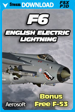 English Electric Lightning F6 for FSX/P3D