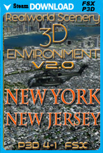 RealWorld Scenery - New York & New Jersey 3D Environment