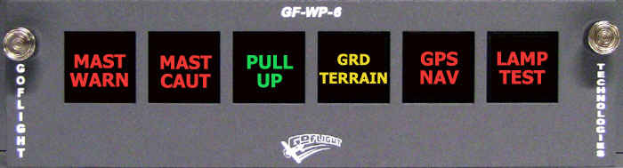 GoFlight (GF-WP-6) Annunciator Panel
