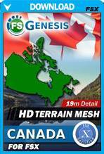FSGenesis - Canada Terrain Mesh FSX