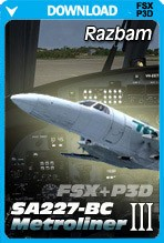 Razbam SA2270BC Metroliner III - FSX+P3D Bundle