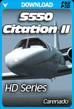 Carenado S550 Citation II HD SERIES for FSX/P3D
