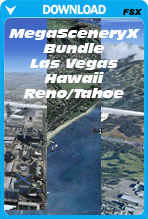 50% Discount Bundle Deal: MegaSceneryX Hawaii, Las Vegas, Reno/Tahoe (FSX)