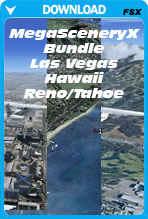 50% Discount Bundle Deal: MegaSceneryX Hawaii, Las Vegas, Reno/Tahoe (FSX)