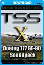 Boeing 777 GE-90 soundpack for FSX