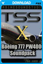 Boeing 777 PW4000-112 soundpack for FSX