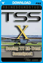 Boeing 777 Trent soundpack for FSX