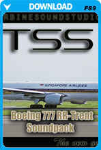 Boeing 777 Rolls Royce Trent-800 Soundpack For FS2004