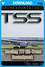 Boeing 777 Rolls Royce Trent-800 Soundpack For FS2004