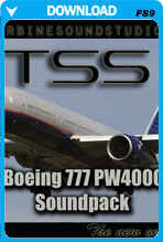 Boeing 777 PW4000-112 soundpack for FS2004