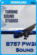 Boeing 757 PW2000 soundpack for FS2004