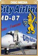 City Airline MD-87 cockpit DVD
