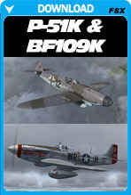 North American P-51K and Messerscmitt Bf 109K