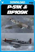 North American P-51K and Messerscmitt Bf 109K
