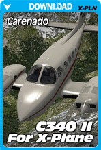 Carenado Cessna 340 II HD Series for X-Plane