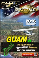 MegaSceneryEarth 3 - Guam 40 cm Ultra Res