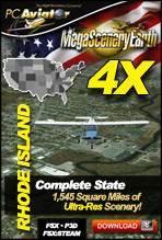 MegaSceneryEarth 4X - Rhode Island