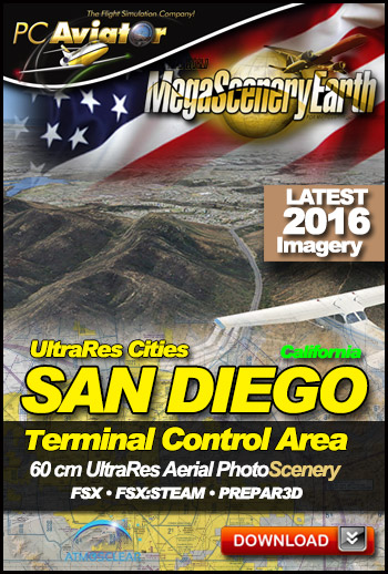 MegaSceneryEarth 3 - UltraRes Cities: San Diego