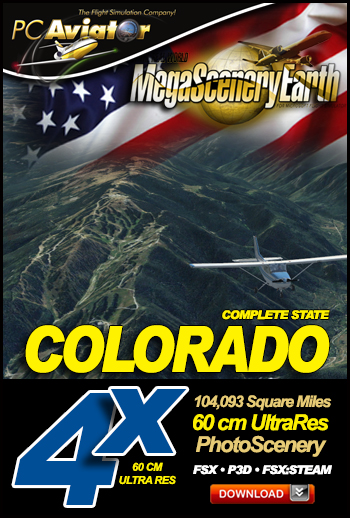 MegaSceneryEarth 4X Colorado 60 cm Ultra Res