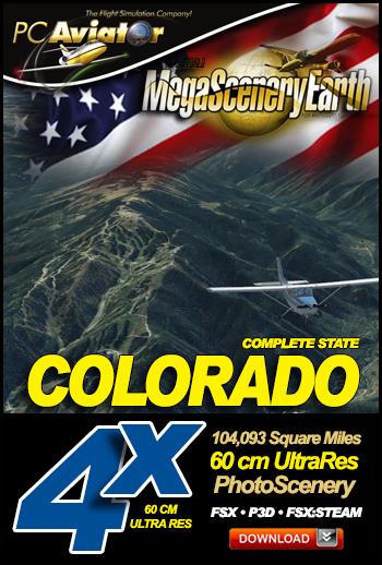 MegaSceneryEarth 4X Colorado 60 cm Ultra Res