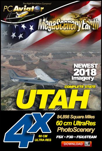 MegaSceneryEarth 4X Utah 60 cm Ultra Res