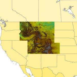 TopoSim - USA - Mountain West Region