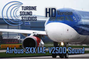 Airbus 3XX IAE-V2500 soundpack for FS2004