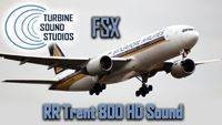 Boeing 777 Rolls Royce Trent 800 soundpack for FSX