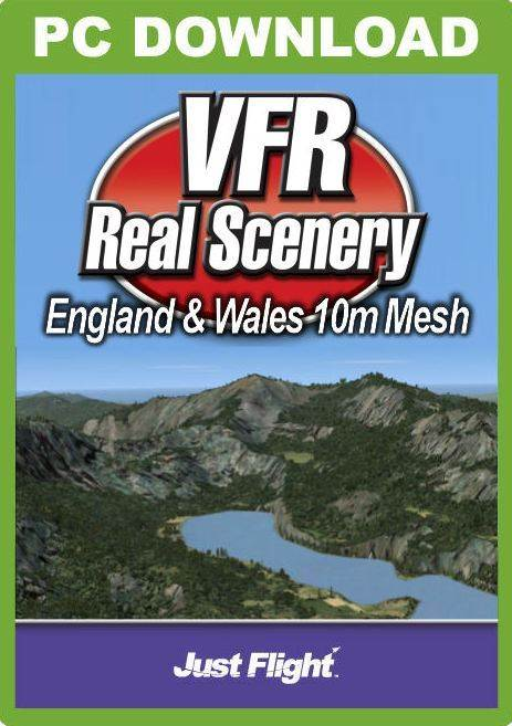 VFR Real Scenery England & Wales Mesh