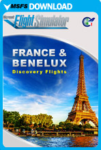 France and Benelux - Discovery Flights (MSFS)