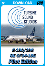 Embraer 195 GE-CF34 Pilot Edition Sound Package (FSX/P3D)