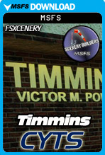 Timmins Victor M. Power Airport (CYTS) MSFS