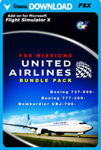 FSX Missions - United Airlines Bundle Pack (FSX)