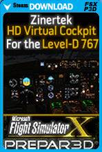 HD Virtual Cockpit for Level-D 767 (FSX/P3D)
