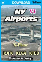 NY Airports v2 XP: KJFK, KLGA, KTEB (X-Plane)